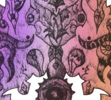 Symmetry? 3 (hazy purple version) Sticker