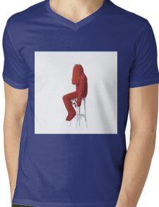 Red Guy Mens V-Neck T-Shirt