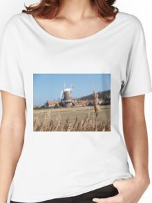 Cley Windmill from the reeds Women's Relaxed Fit T-Shirt
