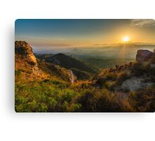 View from the rocks at sunset Canvas Print