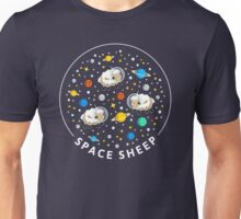 Space Sheep (text) Unisex T-Shirt