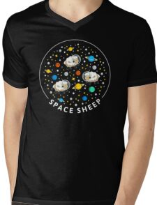 Space Sheep (text) Mens V-Neck T-Shirt