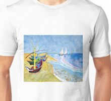 Fisherboats- Tribute to Van Gogh Unisex T-Shirt