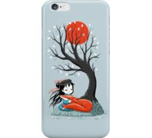 Girl and a Fox 2 iPhone Case/Skin