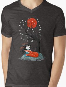 Girl and a Fox 2 Mens V-Neck T-Shirt