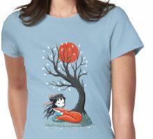 Girl and a Fox 2 Womens Fitted T-Shirt