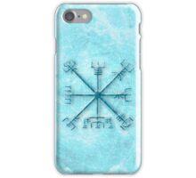 Vegvísir over Permafrost in blue iPhone Case/Skin