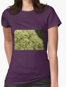 white hydrangea Womens Fitted T-Shirt