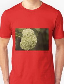 white hydrangea Unisex T-Shirt