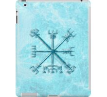 Vegvísir over Permafrost in blue iPad Case/Skin