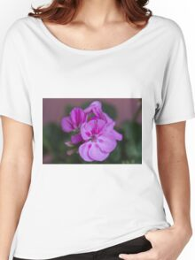 pink flower Women's Relaxed Fit T-Shirt