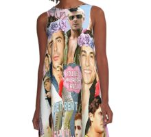 Dave Franco and Zac Efron Collage Edit A-Line Dress