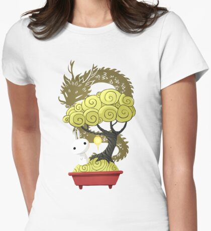 Bonsai Bunny Womens Fitted T-Shirt