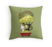 Bonsai Bunny Throw Pillow