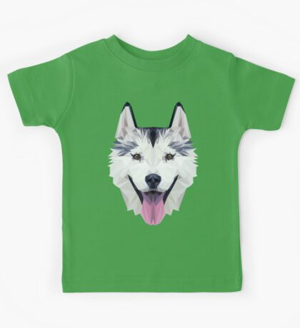 Husky low poly Kids Tee
