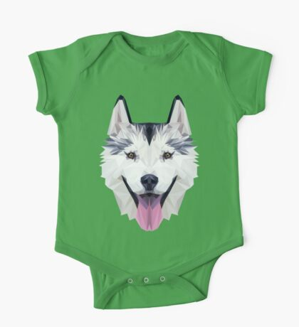 Husky low poly One Piece - Short Sleeve