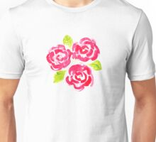 Water color pink roses Unisex T-Shirt