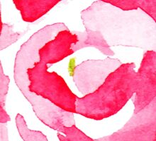 Water color pink roses Sticker