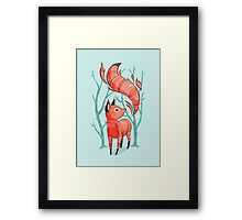 Winter Fox Framed Print
