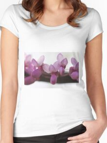 pink wisteria in spring Women's Fitted Scoop T-Shirt