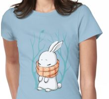 Winter Bunny Womens Fitted T-Shirt