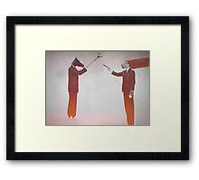 Horse Man and Lion Log Framed Print
