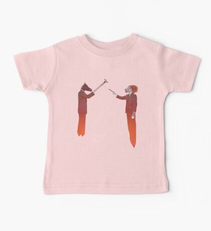 Horse Man and Lion Log Baby Tee