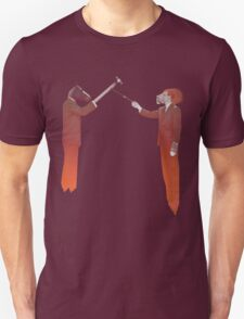 Horse Man and Lion Log T-Shirt