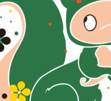 Russian FOLK  Green Squirrel. Sticker