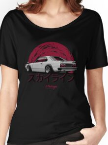 Nissan Skyline C210 (white) Women's Relaxed Fit T-Shirt
