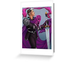 The Paladin of the Black Lion Greeting Card