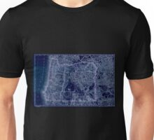 0160 Railroad Maps Indexed map of Oregon showing the railroads in the state and the express company doing business over each also counties lakes Inverted Unisex T-Shirt