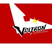 Voltron Logo in Keith Red Photographic Print