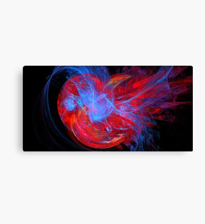 Red Blue Heart Canvas Print