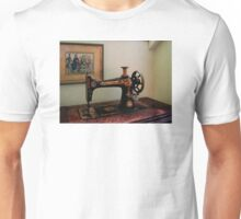 Sewing Machine and Lithograph Unisex T-Shirt