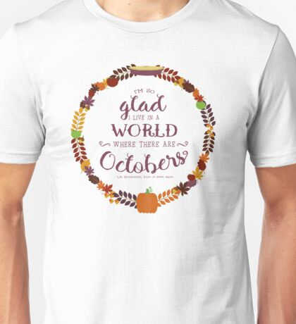Octobers - Anne of Green Gables Unisex T-Shirt
