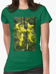yellow flowers in spring Womens Fitted T-Shirt