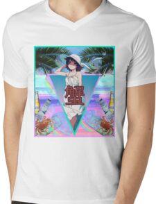 Hitagiwave Mens V-Neck T-Shirt