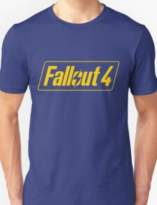 Fallout 4 Logo Yellow Blue Bethesda Design Unisex T-Shirt