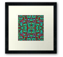OVERLAP RED SQUARES Framed Print