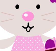 Cute retro easter bunny. Vector cartoon Illustration : Designer Cloth Sticker