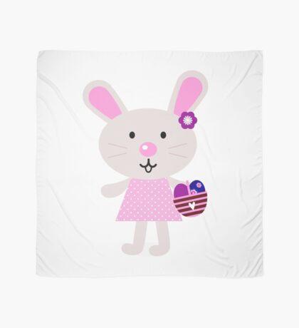 Cute retro easter bunny. Vector cartoon Illustration : Designer Cloth Scarf