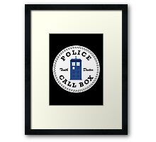 The Doctor's Converse Framed Print