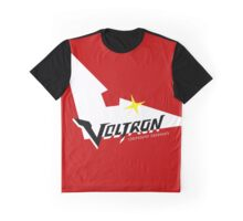 Voltron Logo in Keith Red Graphic T-Shirt