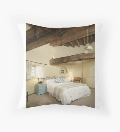 Cley Windmill's Stone Room Throw Pillow