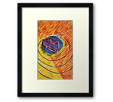 Everything moves in spirals Framed Print