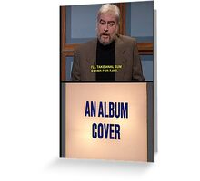 An Album Cover SNL Greeting Card