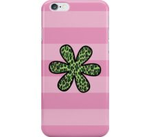Animal Print, Spotted Leopard, Flower - Green Black  iPhone Case/Skin