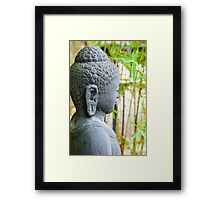 statue of buddha in zen garden Framed Print