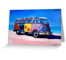 Surf Bus Series - The Love VW Bus Greeting Card